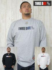 (大きいサイズ)THREE DICE(スリーダイス)「T-DICE」ロンTEE